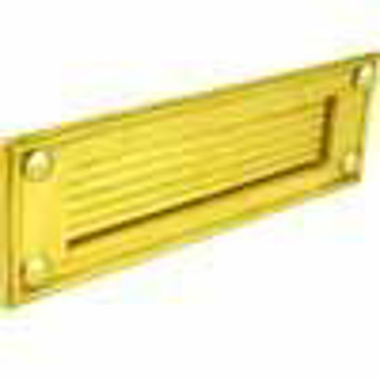 Picture of Letter plate - Horizontal - Reeded